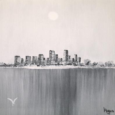 Hans de Bruijn 2er Set 'New York Skyline I + II'