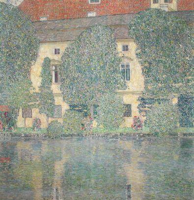 Gustav Klimt Schloss Kammer am Attersee vom See aus