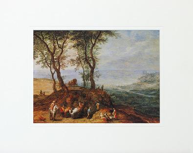 Jan Brueghel Rast auf einem Huegel