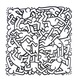 Keith Haring Party of Live Invitation