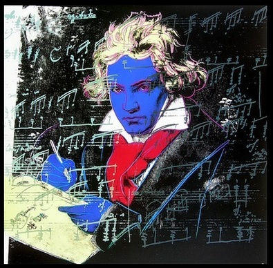 Andy Warhol Beethoven blau ( gross )
