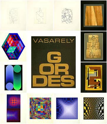 Victor Vasarely Gordes Mappe mit 12 Blatt (1970)