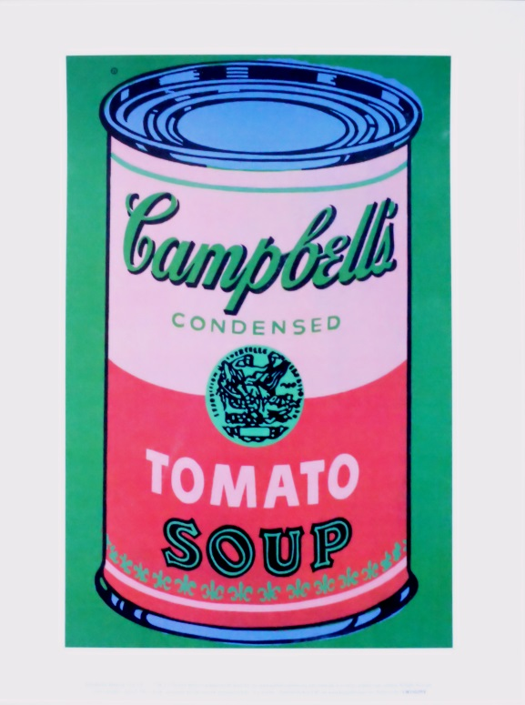 andy warhol colored campbell 39 s soup can 1965 red green poster kunstdruck bei. Black Bedroom Furniture Sets. Home Design Ideas