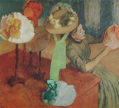 Edgar Degas Bei der Putzmacherin