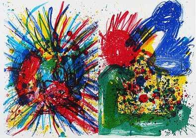 Walasse Ting und Joan Mitchell 91-94 (One Cent Life)undRueckseite