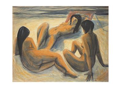 Maurice Cabrol Eva, Betty, Diane et la mer