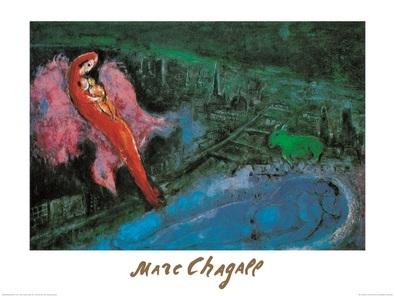 Marc Chagall I Ponti Sulla Senna