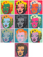 Warhol andy marilyn kopf pink set of 10 medium