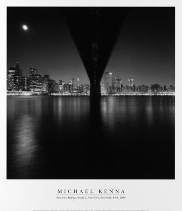 Michael Kenna Brooklyn Bridge, Study 2 - NY