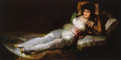 Francisco Goya Maja bekleidet