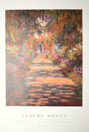 Claude Monet Fussweg im Garten von Giverny