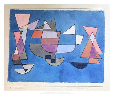 paul klee segelschiffe 1927 poster kunstdruck bei. Black Bedroom Furniture Sets. Home Design Ideas