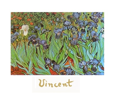 Vincent van Gogh Schwertlilien (mit Schrift)