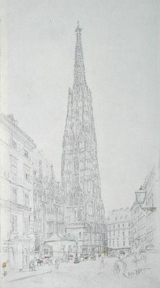 Rudolph von Alt Der Stephansturm in Wien