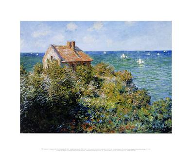 Claude Monet Fisherman's Cottage on the Cliffs at Varengeville, 1882