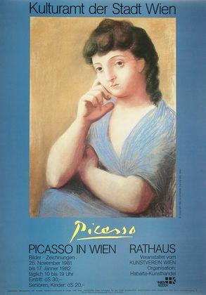 Pablo Picasso Portrait einer Frau in blauer Jacke