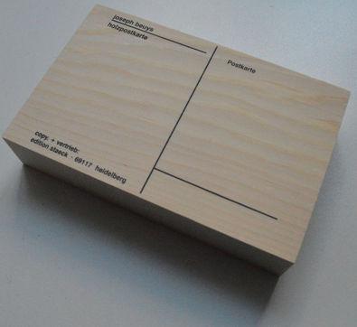 Joseph Beuys Holzpostkarte 1974