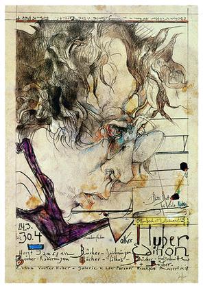 Horst Janssen Huber Edition-Selbstportrait