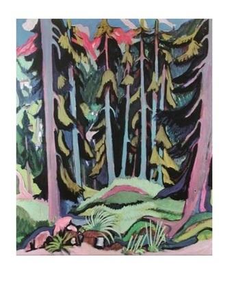 Ernst Ludwig Kirchner Wald mit einem Bach