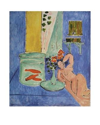 Henri Matisse Goldfische und Skulptur