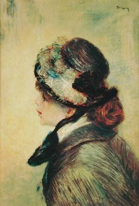 Pierre Auguste Renoir Portrait eines Maedchens