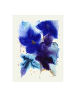 Anne Schroeer 2er Set 'Blaue Blumen' + 'Sonnenblumen und Iris'