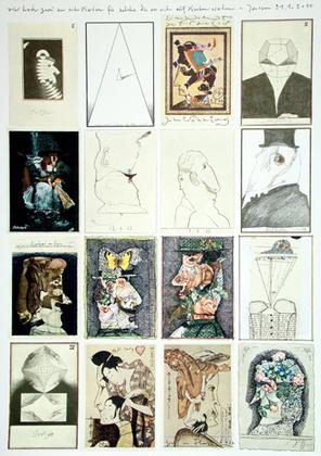 horst janssen postkartenbogen i poster kunstdruck bei. Black Bedroom Furniture Sets. Home Design Ideas
