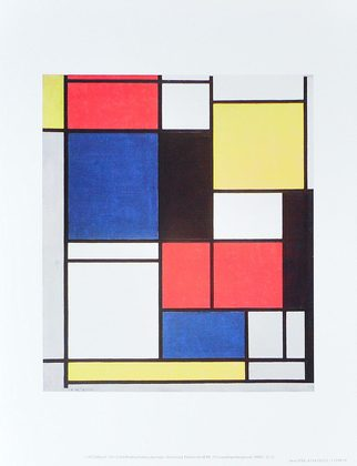 piet mondrian tableau ii 1921 25 poster kunstdruck bei. Black Bedroom Furniture Sets. Home Design Ideas