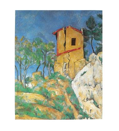 Paul Cezanne Das Haus mit den geborstenen Waenden