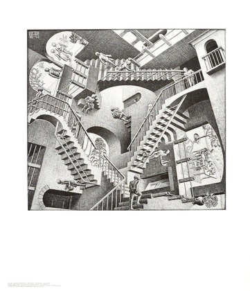 MC Escher Relativitaet