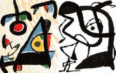Joan Miro Engravings II  2 Beilagen