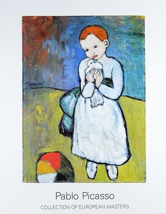 Pablo Picasso Kind mit Taube (gross II)
