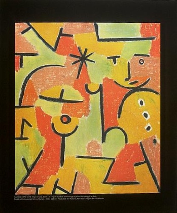 paul klee figur in gelb poster kunstdruck bei. Black Bedroom Furniture Sets. Home Design Ideas