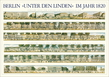 Unbekannter kuenstler berlin unter den linden im jahr 1820 medium
