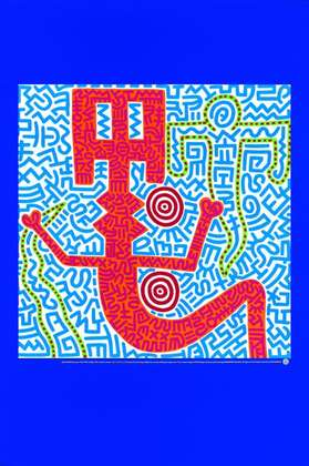 Keith Haring Untitled Blue (1984)