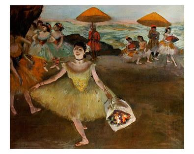 Edgar Degas Taenzerin mit Blumenstrauss