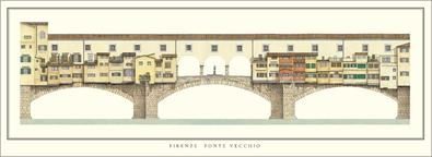 unbekannter Kuenstler Florenz, Ponte Vecchio