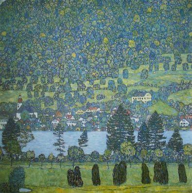 Gustav Klimt Waldabhang   Blick auf Unterach am Attersee (1917)