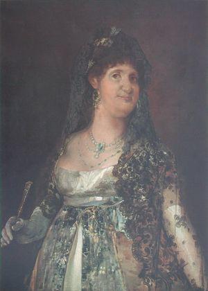 Francisco Goya Koenigin Maria Louisa von Spanien