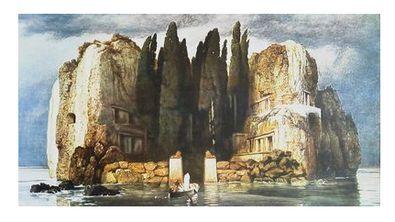 Arnold Boecklin Die Toteninsel (Lichtdruck)