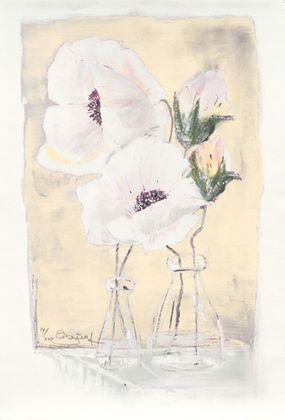 Annelies Buergin Weisse Blueten auf Gelb (2000)