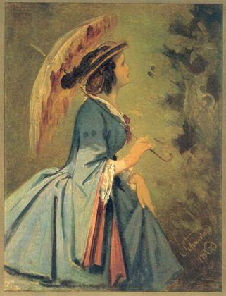 Moritz von Schwind Anna   Die Tochter des Kuenstlers