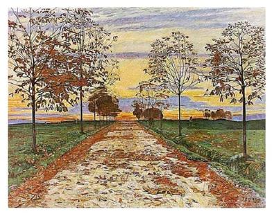 Ferdinand Hodler Herbstabend, 1892