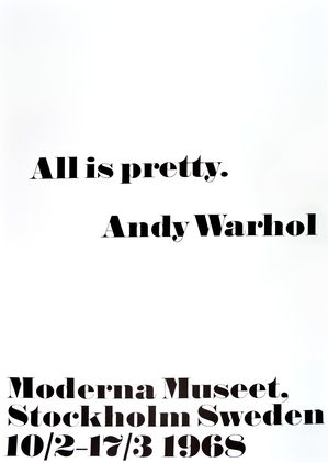 Andy Warhol All is pretty