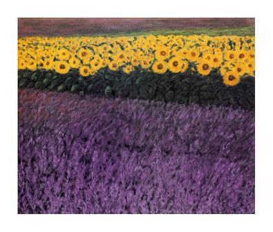 Eleonore Baur-Brinkman 2er Set 'Sonnenblumen' + 'Lavendelfelder'