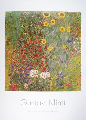 Gustav Klimt Der Landgarten mit Sonnenblumen