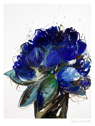 Johannes Bender Blauer Blumenstrauss