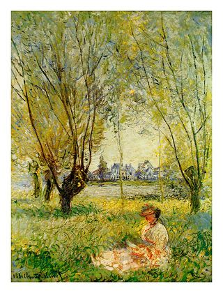 Claude Monet Woman Under The Willow, 1880