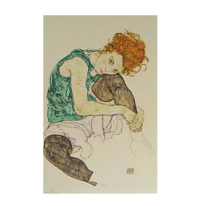 Egon Schiele Sitzende Frau mit hochgezogenem Knie