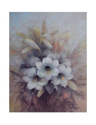 unbekannt Blumenstillleben (handsigniert)